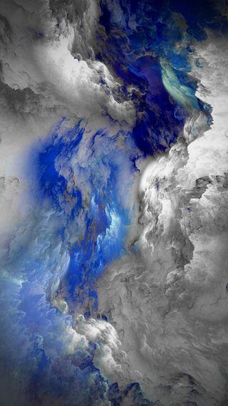 Обои на телефон blunt, galaxy, cosmic blue, абстрактные, синие, галактика, космос, луна, облака, земля, цвета, вулкан