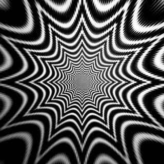 Обои на телефон иллюзии, шаблон, черные, темные, странные, отверстие, линии, звезда, белые, trippy star