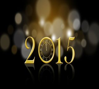 Обои на телефон счастливые, рождество, праздник, новый, золотые, боке, 2015, happy