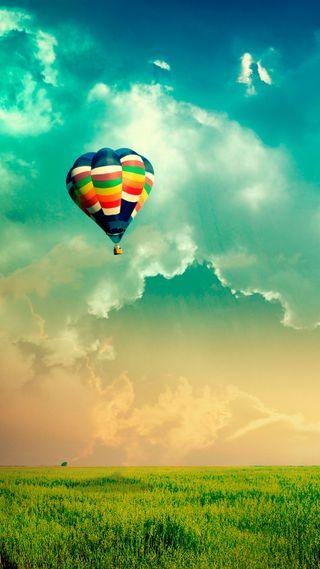 Обои на телефон шары, цветные, природа, небо, balloon in sky