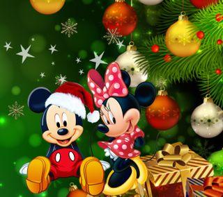 Обои на телефон минни, счастливое, рождество, микки, маус, дисней, disney, 1440x1280px