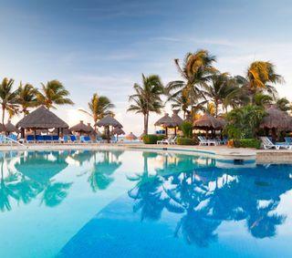 Обои на телефон тропические, пляж, остров, курорт, swim, pool