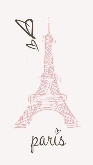 Обои на телефон мягкие, франция, сердце, розовые, париж, милые, девчачие, девушки