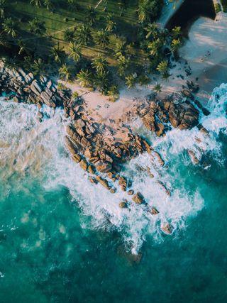 Обои на телефон шри ланка, пляж