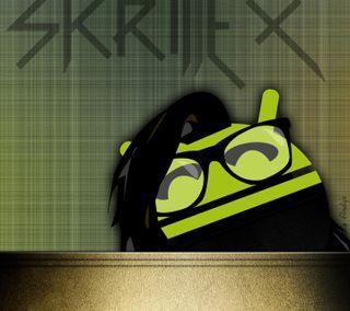 Обои на телефон зеленые, дроид, skrillex, edm, andrillex