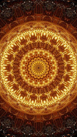 Обои на телефон орнамент, мандала, оранжевые, огонь, круглые, коричневые, кольцр, желтые