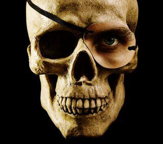 Обои на телефон скелет, череп, кость, глаза