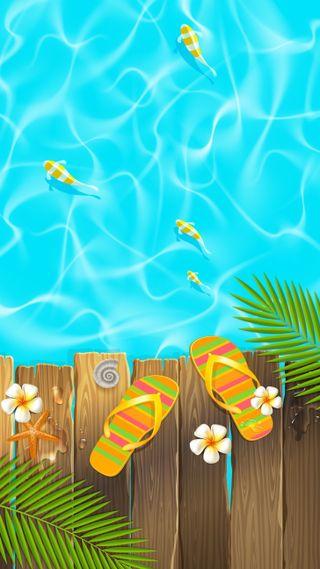 Обои на телефон лето, pool
