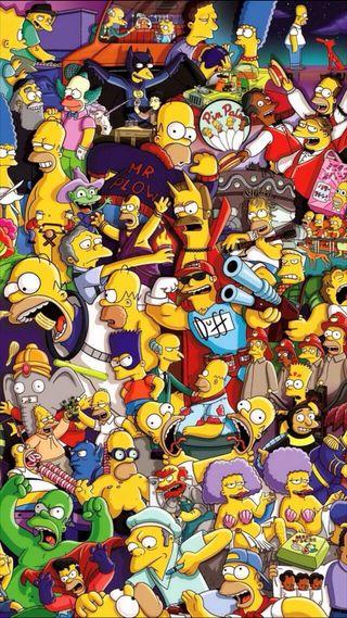 Обои на телефон лиза, симпсоны, мультфильмы, желтые, гомер, арт, marge, barr, art