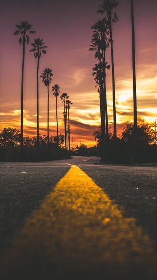 Обои на телефон улица, калифорния, закат, california sunset