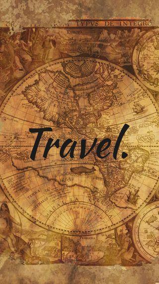 Обои на телефон карта, слово, путешествие, простые, минимализм, дизайн, глобус, высказывания, travelling, ben0909