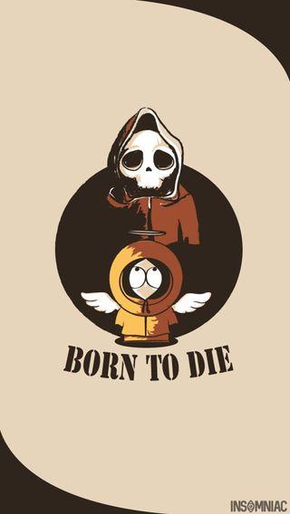 Обои на телефон южный, умри, скелет, рожденный, парк, мертвый, ангел, south park, kenny wallpaper, kenny, born to die