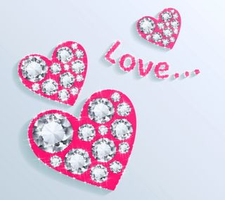 Обои на телефон валентинки, сердце, романтика, любовь, красые, валентинка, бриллианты, valentines by marika, love