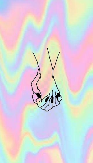 Обои на телефон цветные, tumblr, manos