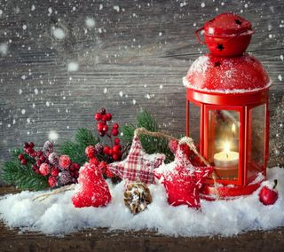 Обои на телефон свеча, украшение, счастливое, снег, рождество, дерево, время