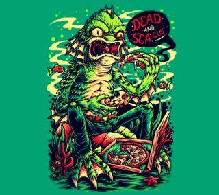 Обои на телефон пицца, зеленые, забавные, dsc