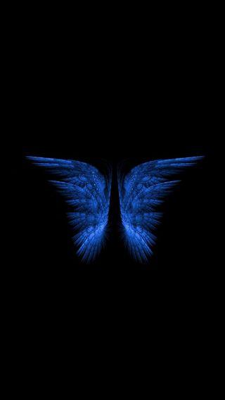 Обои на телефон крылья, синие, бабочки