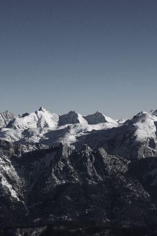 Обои на телефон снег, природа, небо, горы, beatuiful
