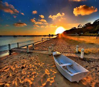 Обои на телефон прекрасные, пейзаж, закат
