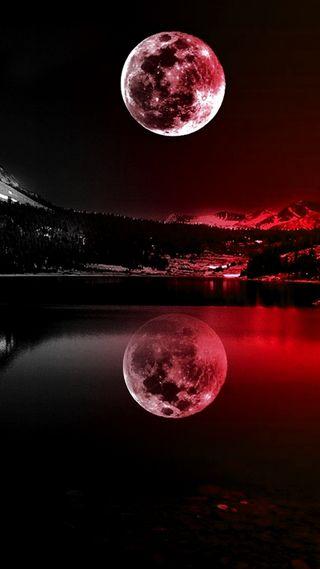 Обои на телефон луна, красые
