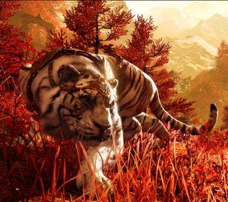 Обои на телефон тигр, gss