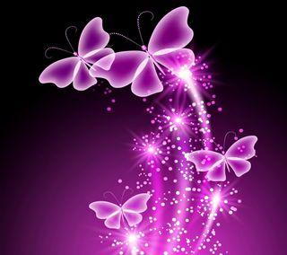 Обои на телефон сверкающие, фиолетовые, прекрасные, неоновые, бабочки, neon butterflies