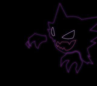 Обои на телефон призрак, покемоны, пикачу, монстры, pocket monsters, haunter, ghost, ghastly, gengar