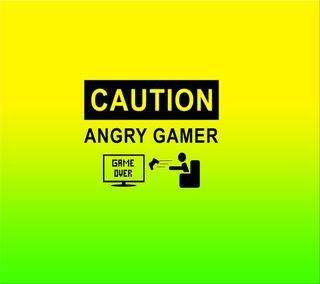 Обои на телефон геймер, поговорка, осторожно, новый, крутые, игра, злые, злость, game over