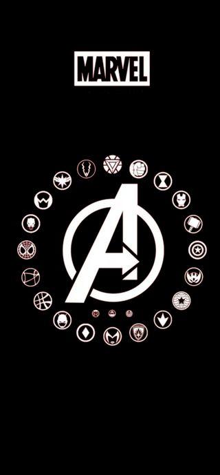 Обои на телефон конец, мстители, марвел, логотипы, игра, marvel, all avengers logo