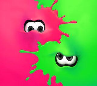 Обои на телефон розовые, игра, зеленые, splatoon