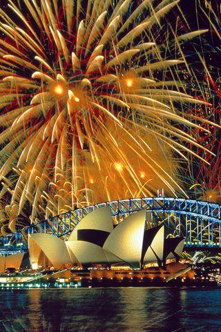 Обои на телефон фейерверк, абстрактные, sydney fireworks