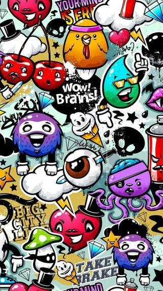 Обои на телефон граффити, дизайн, graffiti-wallpaper