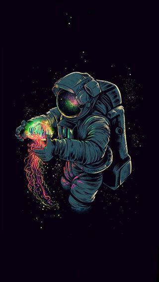 Обои на телефон космонавт, черные, супер, мяч, люди, дракон, герой, бог, dragon