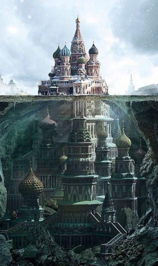 Обои на телефон фикция, россия, трава, пейзаж, земля, зеленые, вселенная, будущее, sains fiction, green grass