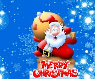 Обои на телефон снежинки, счастливое, санта, рождество, подарок, зима, 960x800px