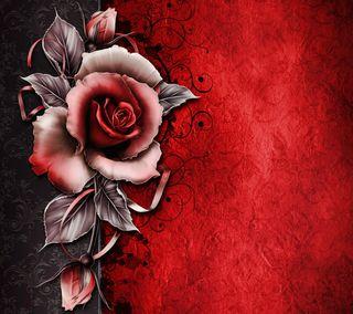 Обои на телефон шаблон, цветы, фон, серые, розы, красые, винтаж, абстрактные