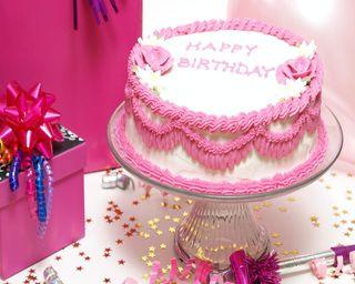 Обои на телефон торт, день рождения, счастливые, розовые, подарки, pink cake, birthday cake