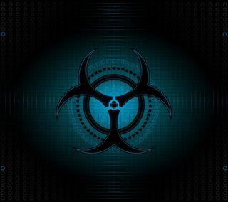 Обои на телефон синие, самсунг, опасность, галактика, андроид, samsung, s5, s4, s3, note, hd, galaxy, full, biohazardandroid, bio, android