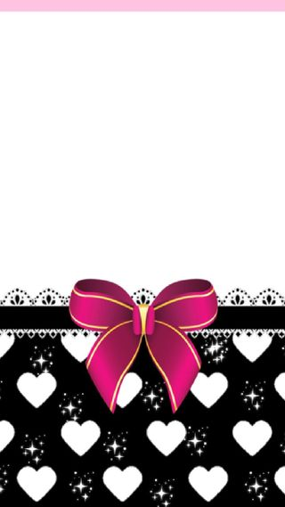 Обои на телефон лук, черные, фиолетовые, симпатичные, сердце, блестящие, белые, pretty bow