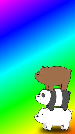 Обои на телефон сеть, медведи, радуга, мультфильмы, bearstack