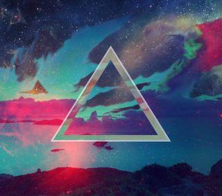 Обои на телефон треугольник, небо