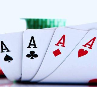 Обои на телефон туз, покер, карты
