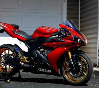 Обои на телефон ямаха, спортивные, красые, байк, yamaha yzf, red bike