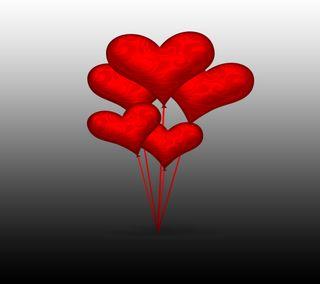 Обои на телефон флирт, шары, сердце, самсунг, романтика, новый, любовь, крутые, samsung, s4, love, heart balloons