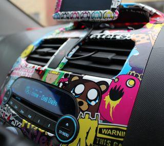 Обои на телефон наклейки, машины, забавные, stickerbomb, hd, dope