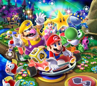 Обои на телефон видео, супер, нинтендо, марио, игры, галактика, вечеринка, super mario party, super mario galaxy, nintendo