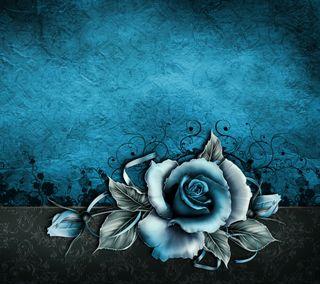 Обои на телефон готические, цветы, синие, розы, ретро, мотивация, винтаж, бумага, белые, vintage rose