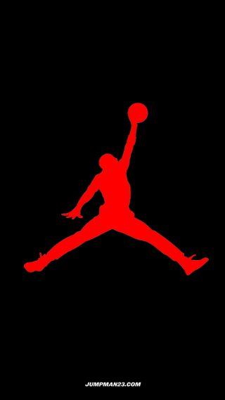 Обои на телефон баскетбол, логотипы, красые, red jumpman logo, jorden