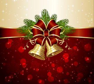 Обои на телефон лук, украшение, счастливое, рождество, новый, bells