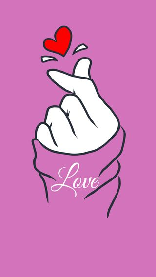 Обои на телефон рука, сердце, розовые, любовь, корея, корейские, знаки, love, korean love sign